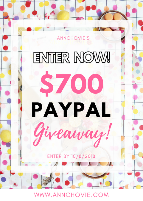 Hi Loves! I've teamed up with some of my favorite Bloggers and YouTubers for a great giveaway! One lucky person will win $700 in PayPal Cash. Check the blog post for more details on how to enter! Winner will be announced by 10/8. Good luck! | #GIVEAWAY | #GIVEAWAYALERT | #WIN | #COMPETITION | #RAFFLECOPTER | #HAVEYOUENTERED |
