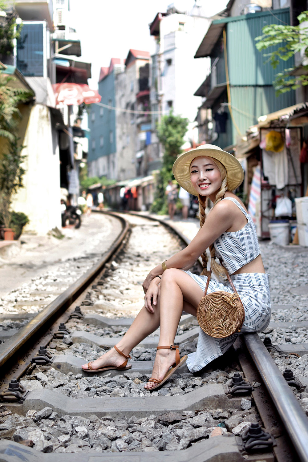 I'm kicking off 2019 with all my Vietnam travel content! First off is Hanoi, the capital of Vietnam, where I spent the first full day exploring Hanoi Old Quarter. The Old Quarter feels like a place paused in time, still vibrant with history, and brimming with cultural influences from China and France to name a few. Check out the sites we visited, the Airbnb we stayed at, and details on my outfit. Hanoi needs to be on your travel bucket list for sure! | #ootd | #TravelVietnam | #traveloutfit | #HanoiOldQuarter| #Hanoi | #visitVietnam | #travelguide | #thingstodo
