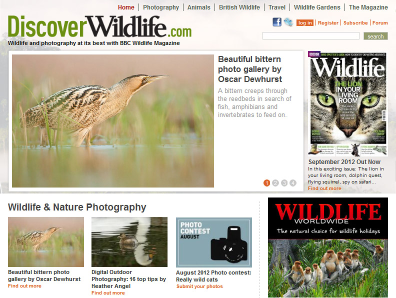 BBC Wildlife Magazine Website