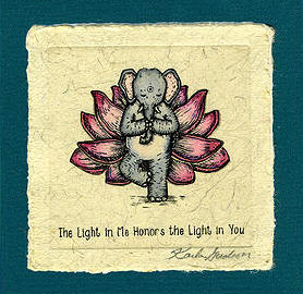 """The Light In Me Honors The Light In You"" by Karla Gudeon, click image to purchase!"