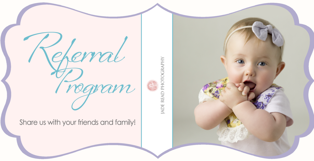 jade read photography gold coast baby photographer referral program