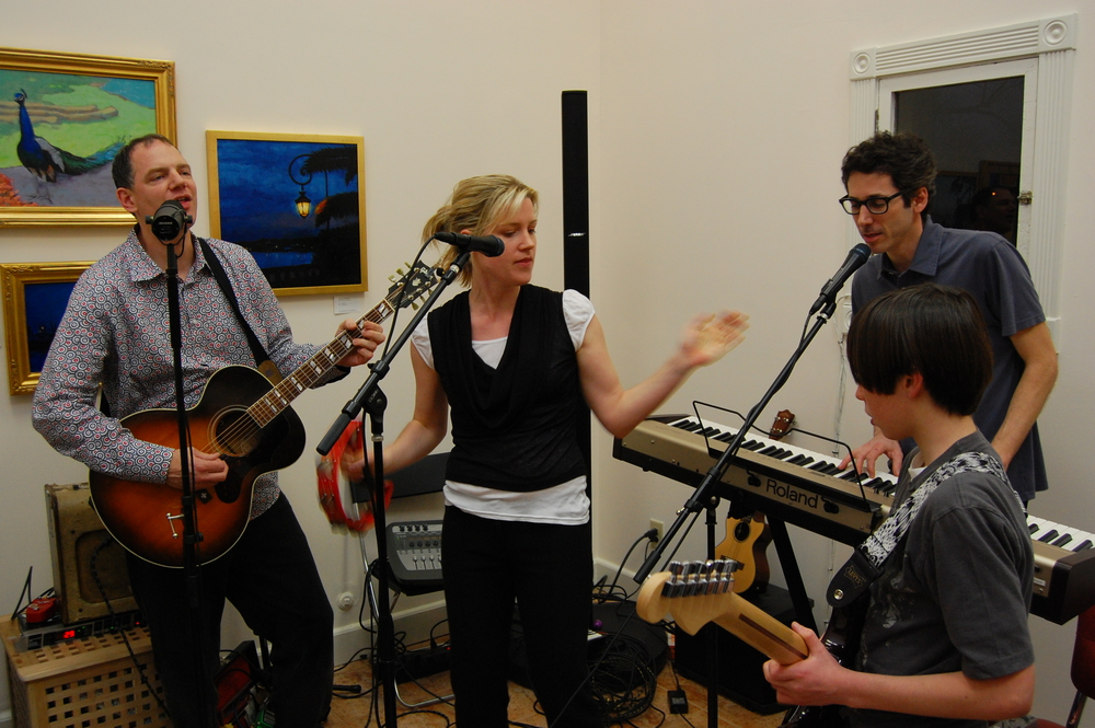 The Omnivores and friends performing at an Eclectic Music event.