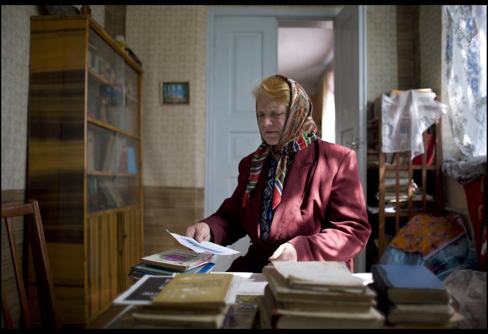 Yulia At Her Desk