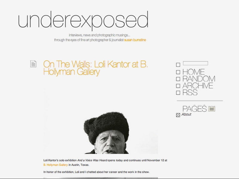 Underexposed Blog by Susan Burnstine October 3, 2011