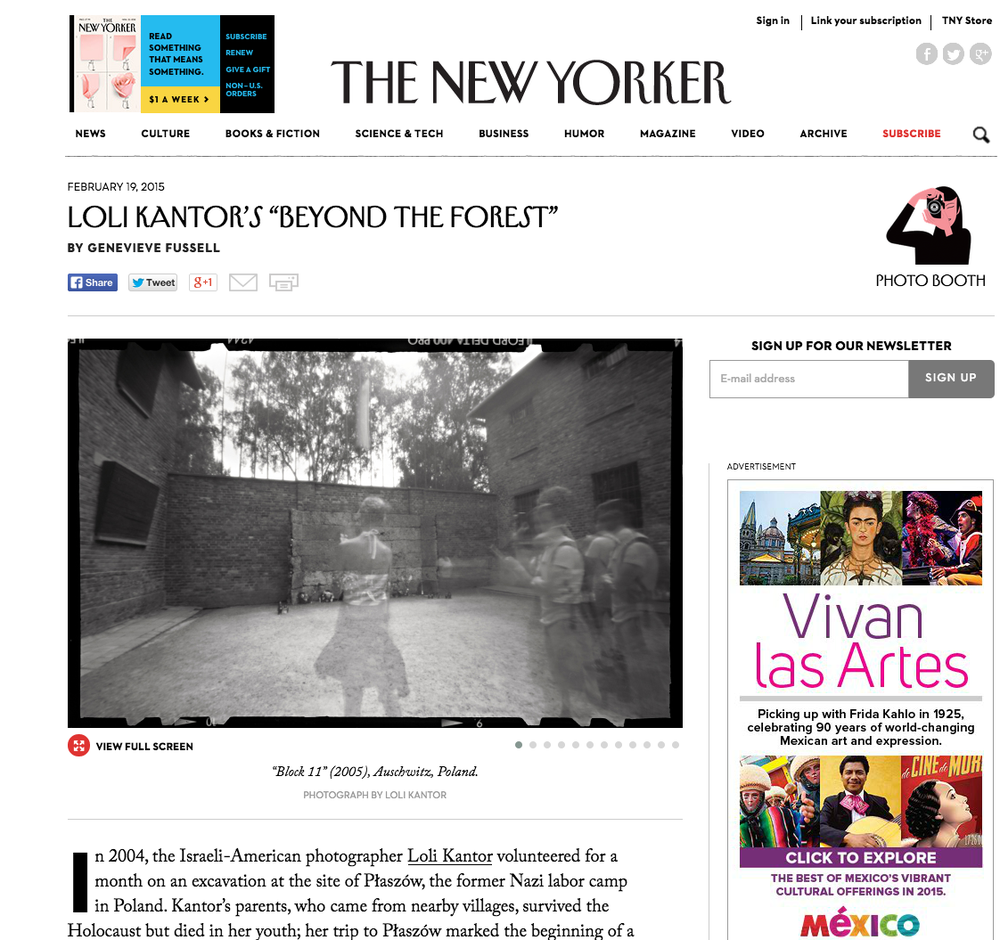 "The New Yorker   Loli Kantor's ""Beyond the Forest""   by Genevieve Fussell   February 19, 2015"