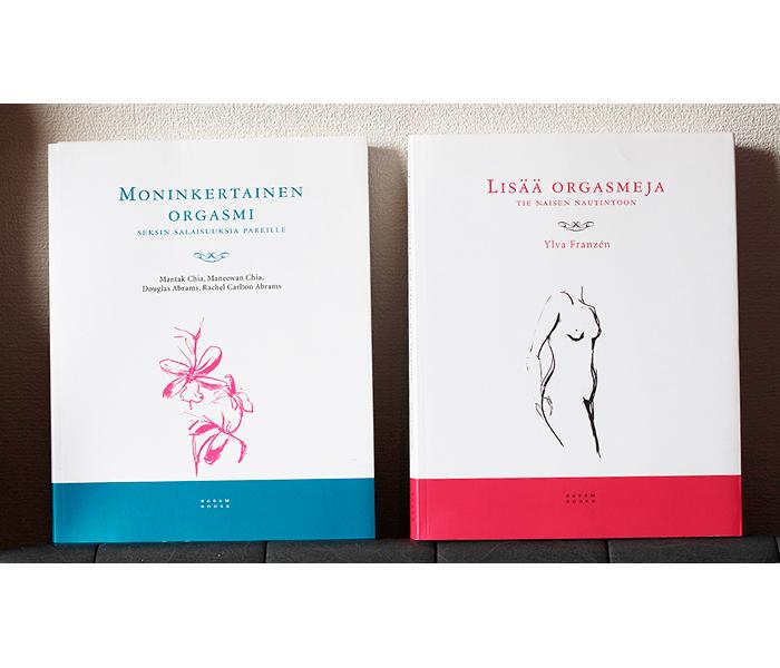 Moninkertainen orgasmi, Lisää orgasmeja (Basam Books): kansien graafinen suunnittelu ja kuvitukset.