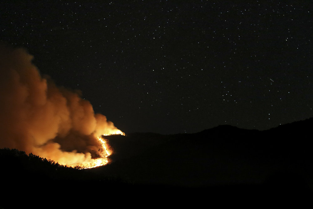 Fire at Table Rock