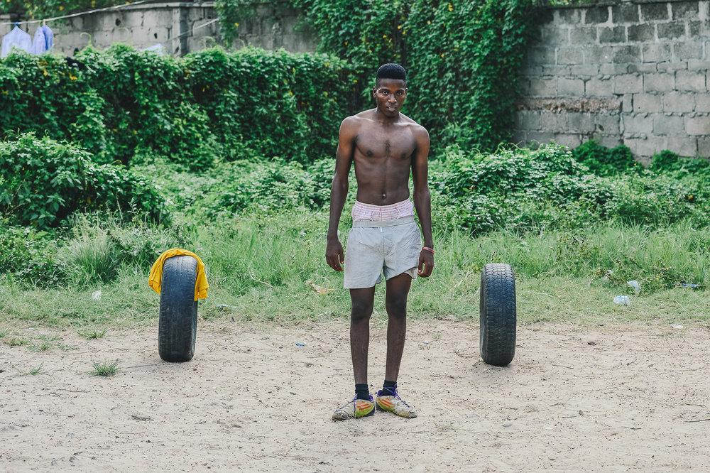 LAGOS 3 - Street Football; In Goal.jpg