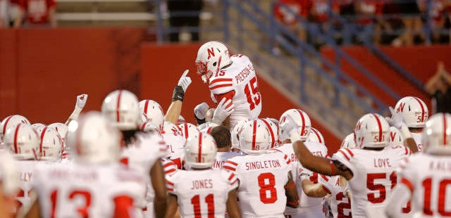Huskers wore the all white uniforms for the Fresno State game.