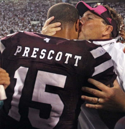 #3 Mississippi State beats #2 Auburn. A little close there coach, 2 foot rule.