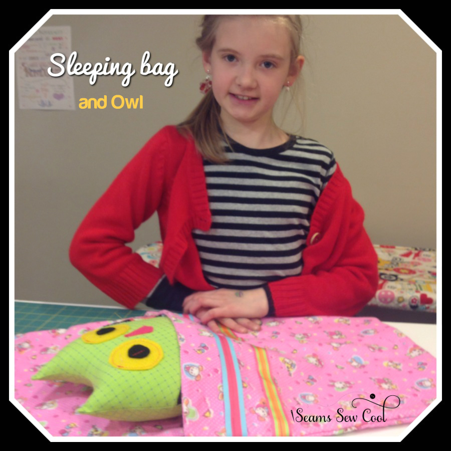 Learn to sew a sleeping bag and an owl to put in it!