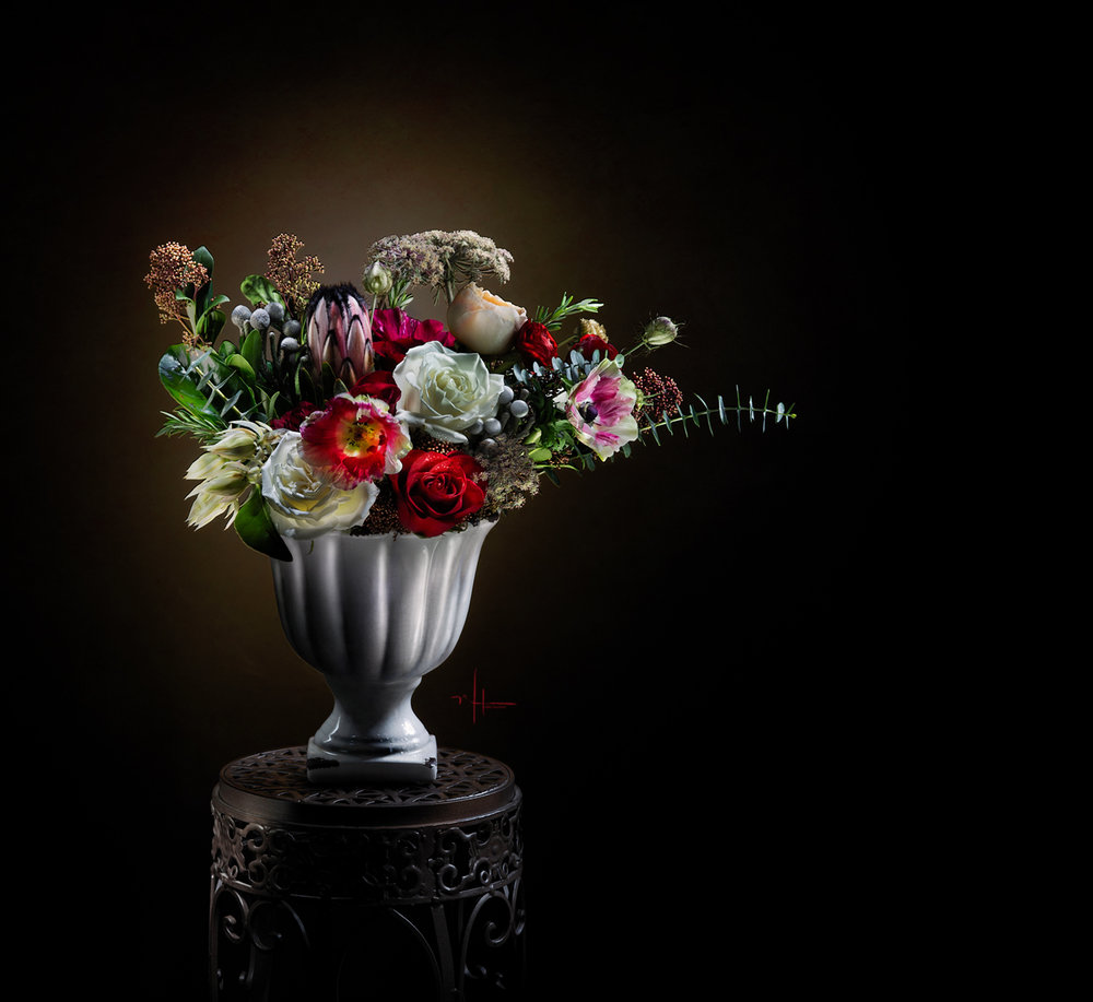 Florals by Maltabella Design Kelowna BC  — photographed and light painted by Nikki Harrison