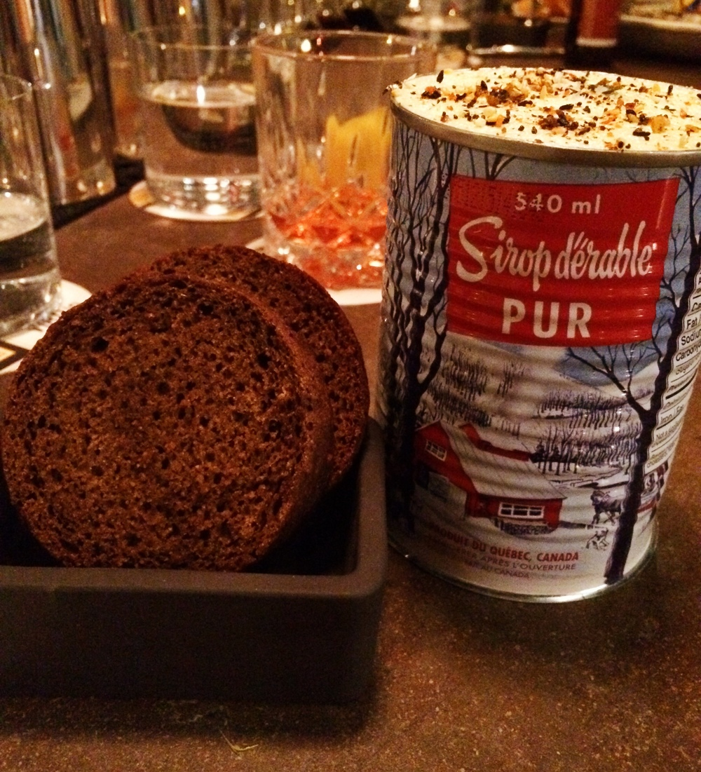 Classic brown bread with sea salted and sesame butter