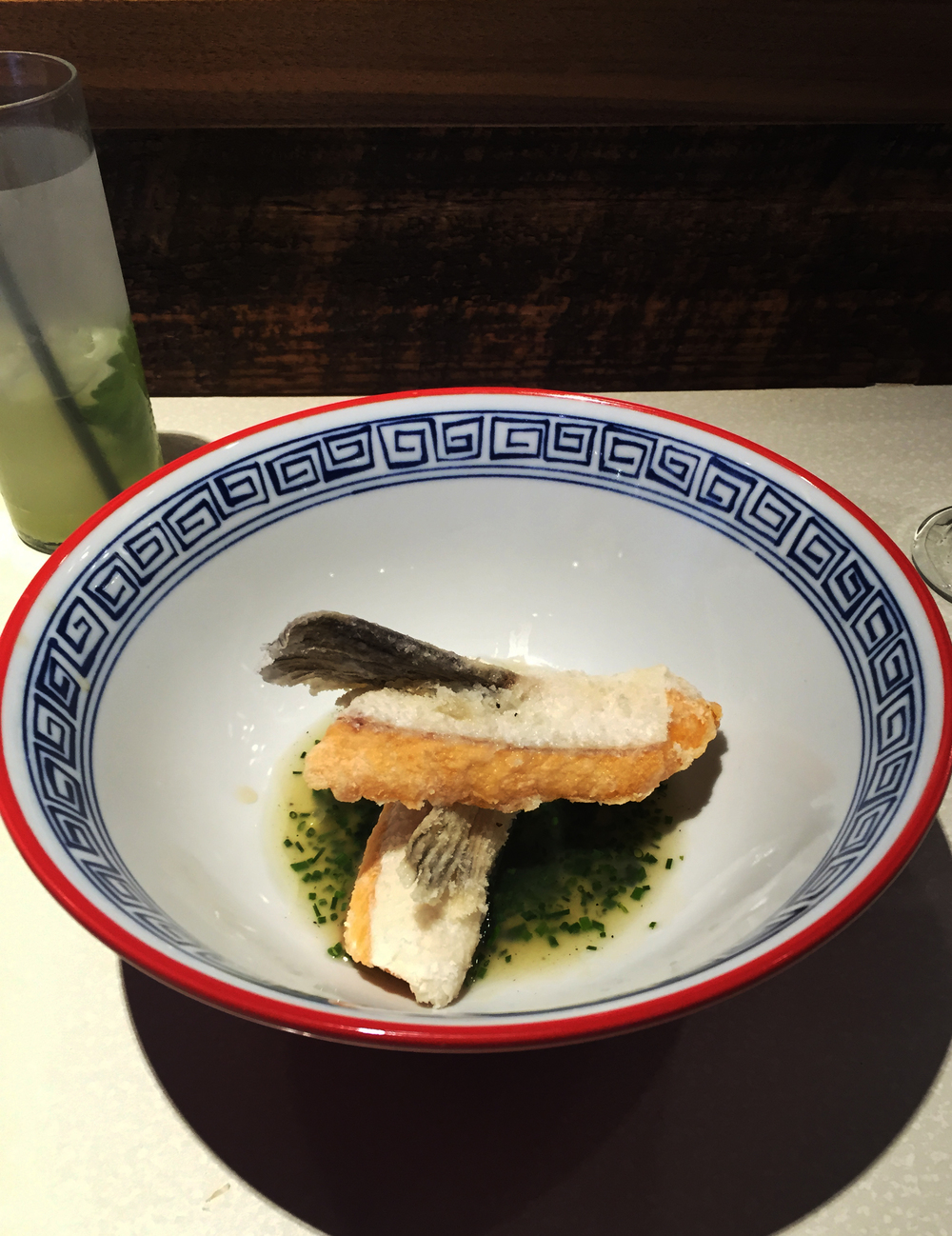 Salmon fins - well plated, but a bit underwhelming
