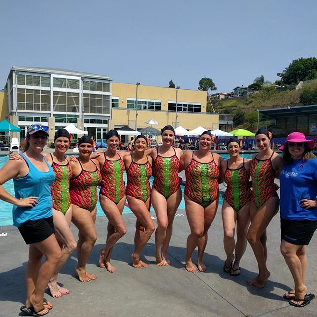 ☀️ wishing we were still in sunny San Diego ☀️ #synchronizedswimming #synchro #stillrecoveringfromtheburnthough