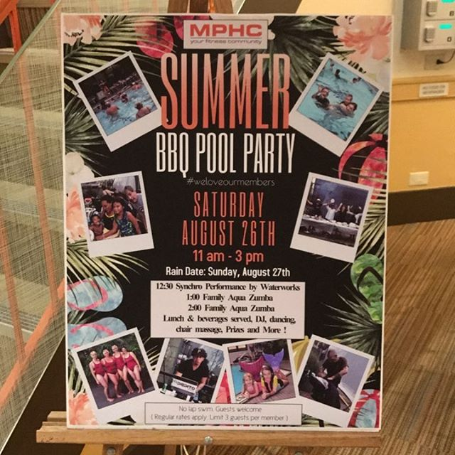 TODAY! 12:30pm! Come thru! #synchronizedswimming #mphclub #bbqpoolparty