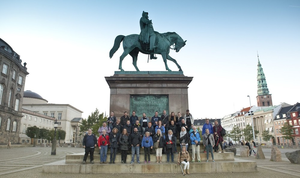 The group before we started our walk. I'm in the top right corner. Photo by Ann Malmgren