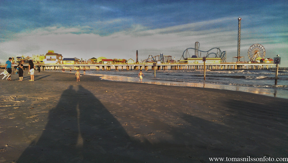 Another photo from the day in Galveston...with delightful company which makes this shadow selfie a keeper!