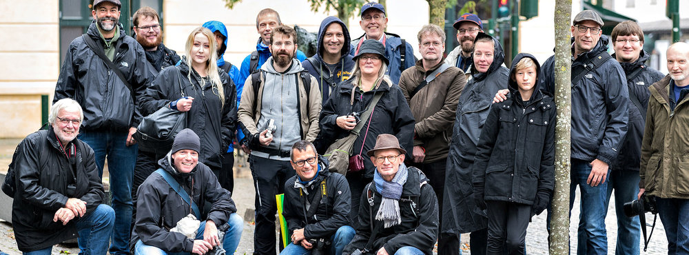 The walkers before we began...still with smiles on our faces. Photo by Henrik Delfer