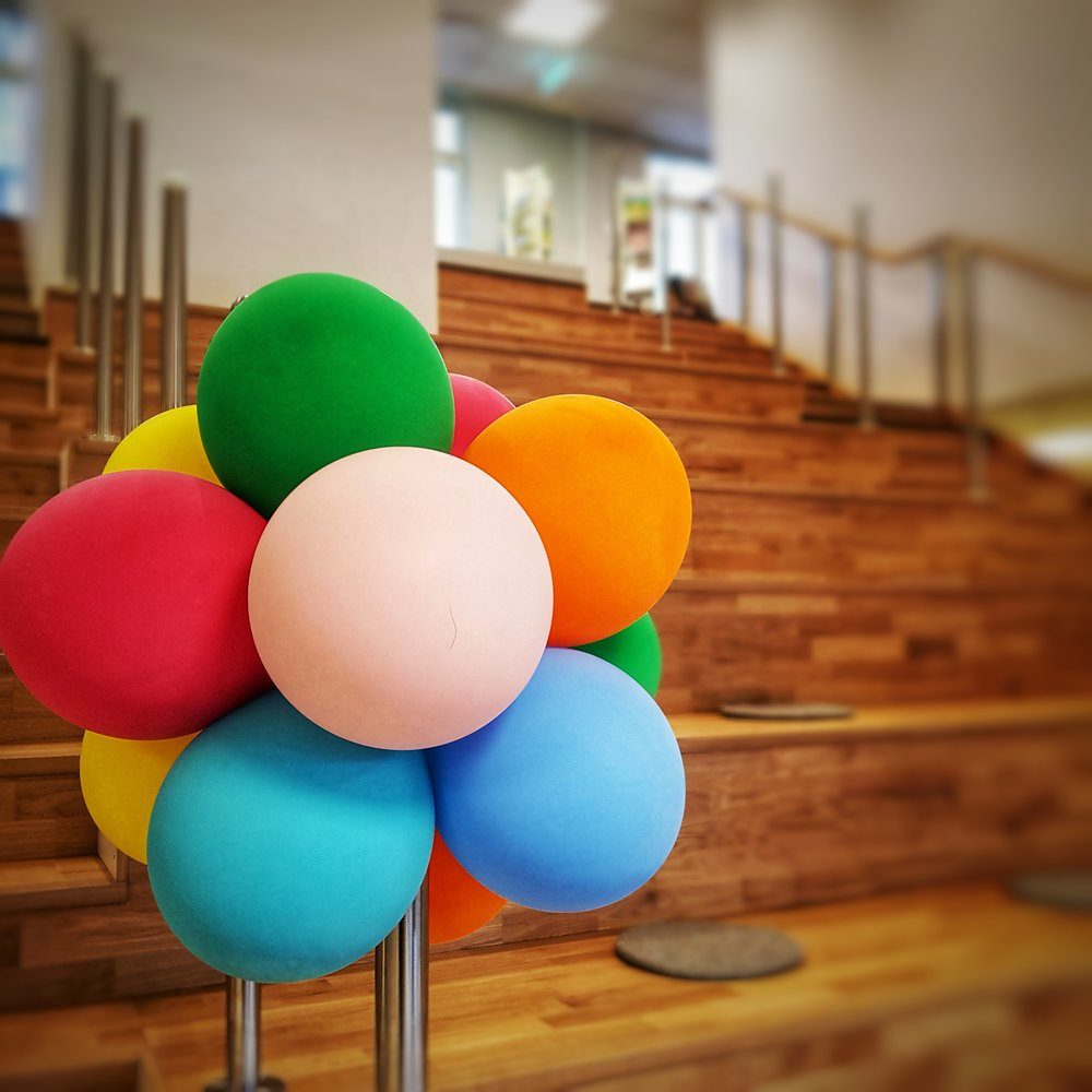 Day 53 - February 22: Balloons at the Library