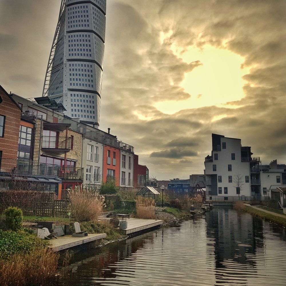 Day 55 - February 24: Canal at Turning Torso