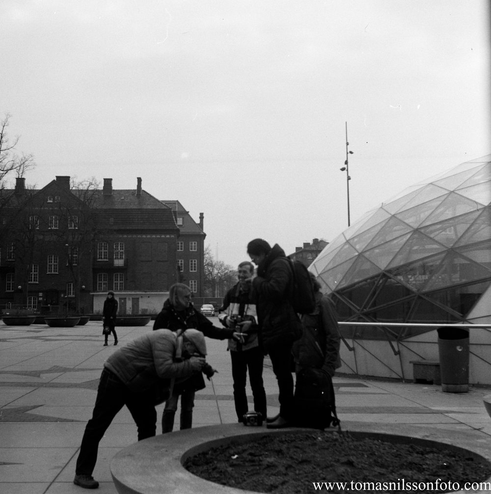 Some of the other photographers taking pictures of a Bronica camera which was not quite as old as mine (early 1970s).