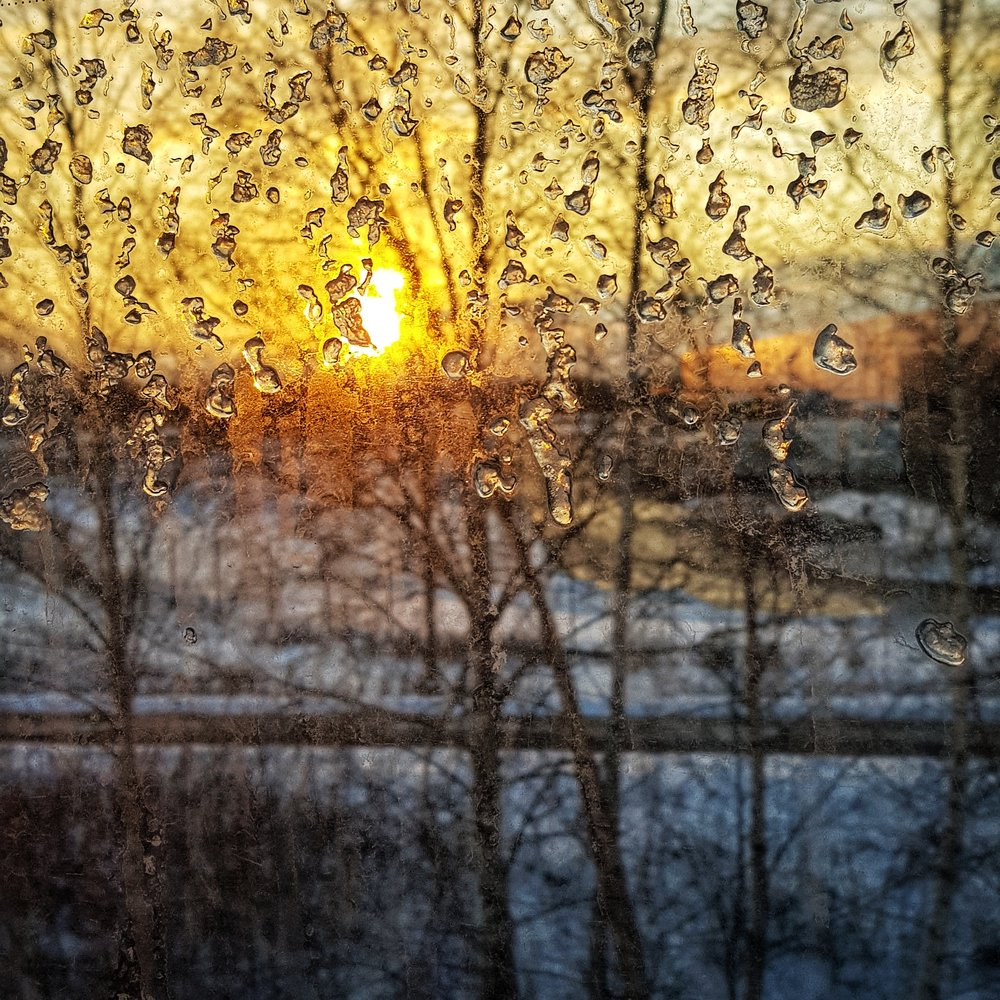 March 1 - Day 60: Sunset through a bus window