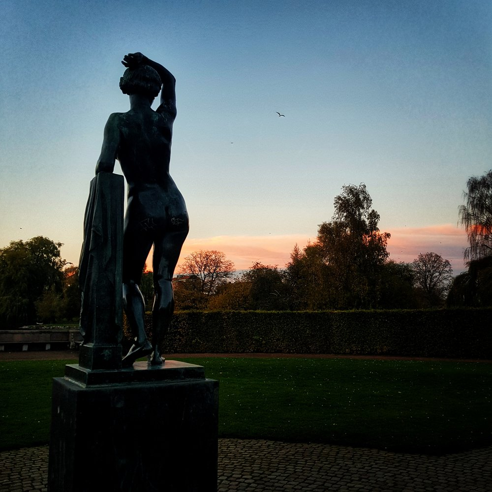 Day 303 - October 30: Statue at sunset