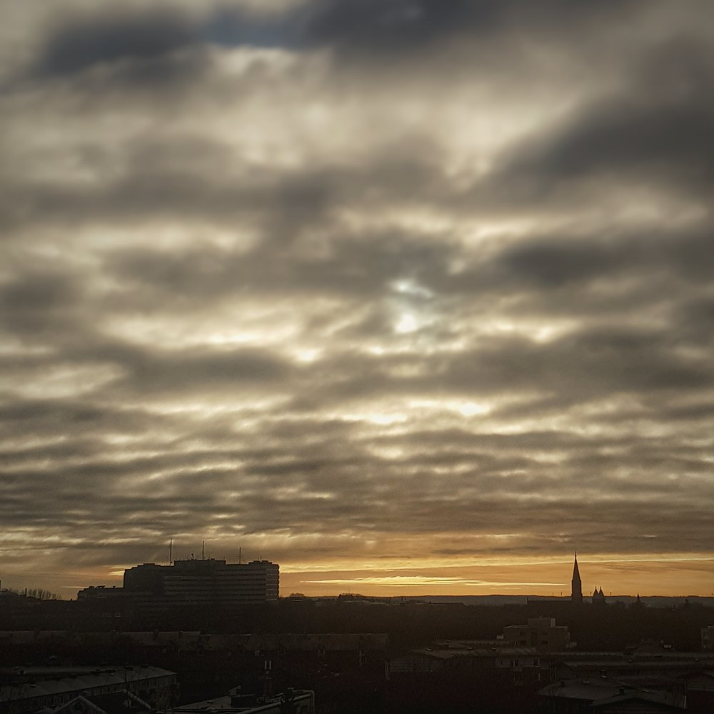 Day 6 - January 6:  Sky above Lund