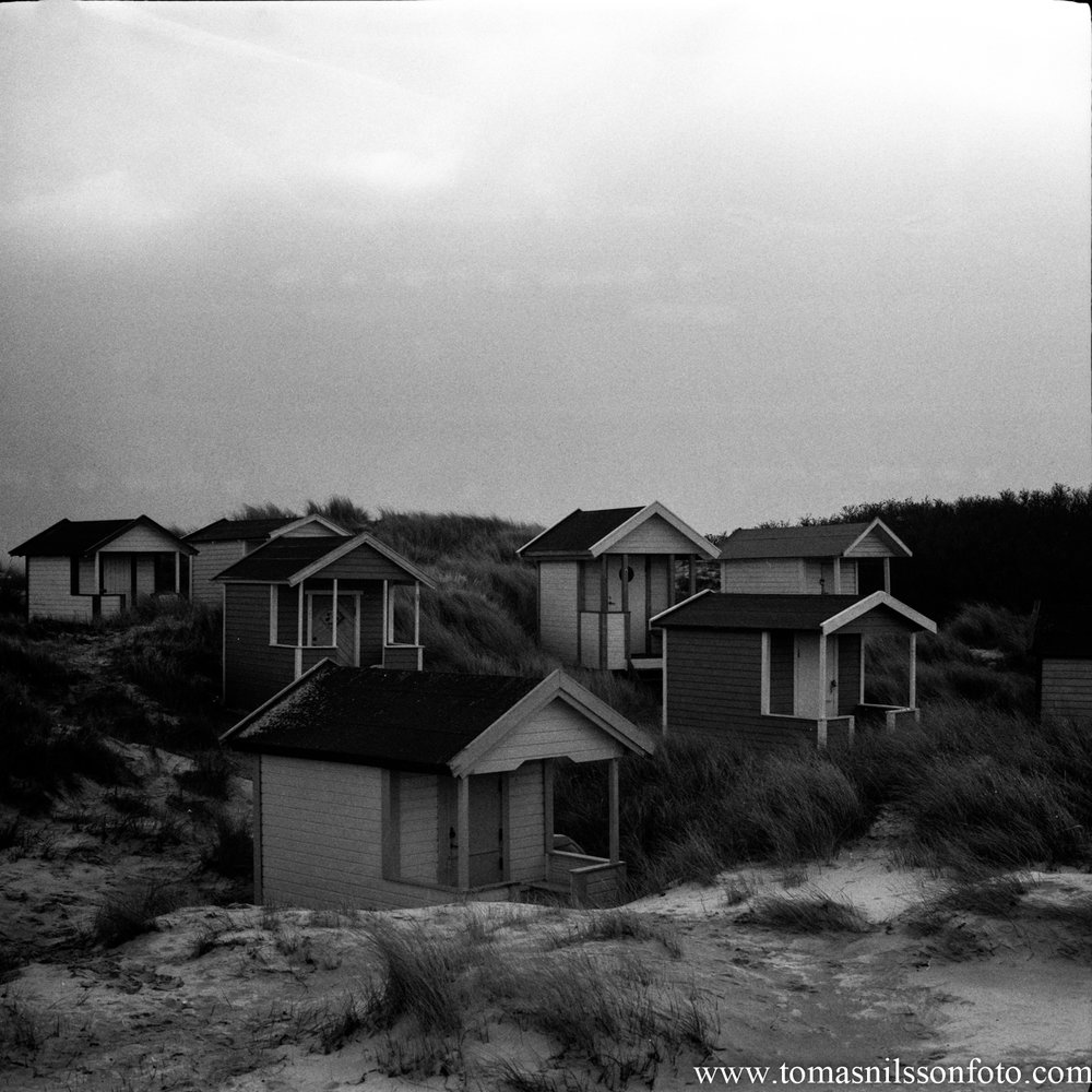 Day 64 - March 5: Beach huts on a gray day