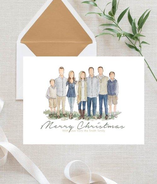 custom christmas cards - Custom Photo Christmas Cards