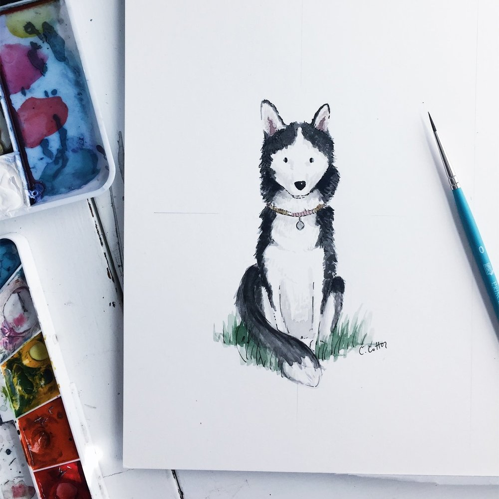 Custom Pet Illustration - $175+One of our favorites! Capture your family's lovable furry friends forever.
