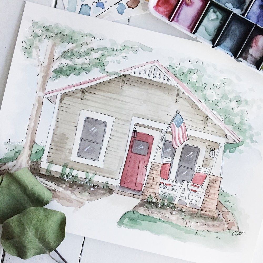 Custom Home Illustration - $400+Remember one of your families biggest purchases in a special way.