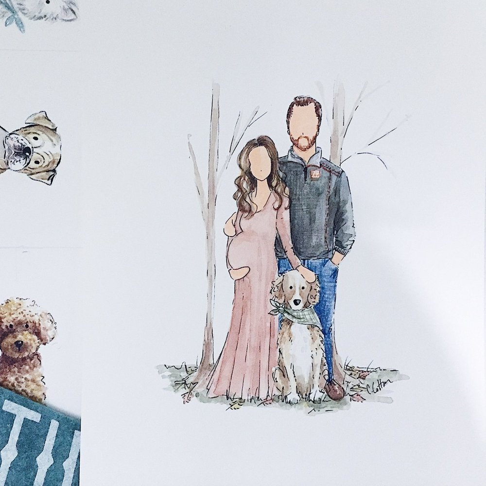 Custom Family Illustration - $375+Capture your loved ones in a memorable way to be remembered for years to come.