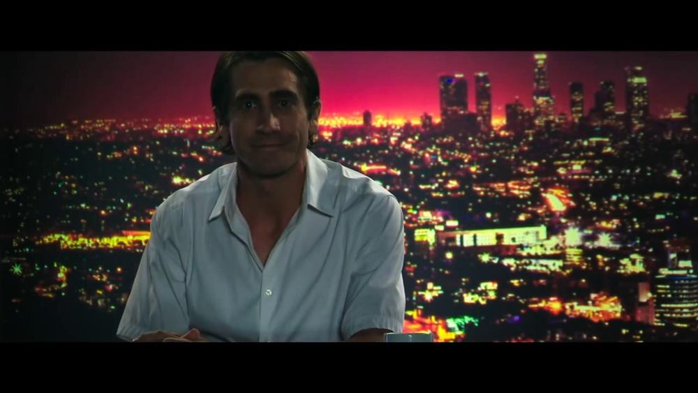 Jake Gyllenhaal as Lou Bloom in, Nightcrawler