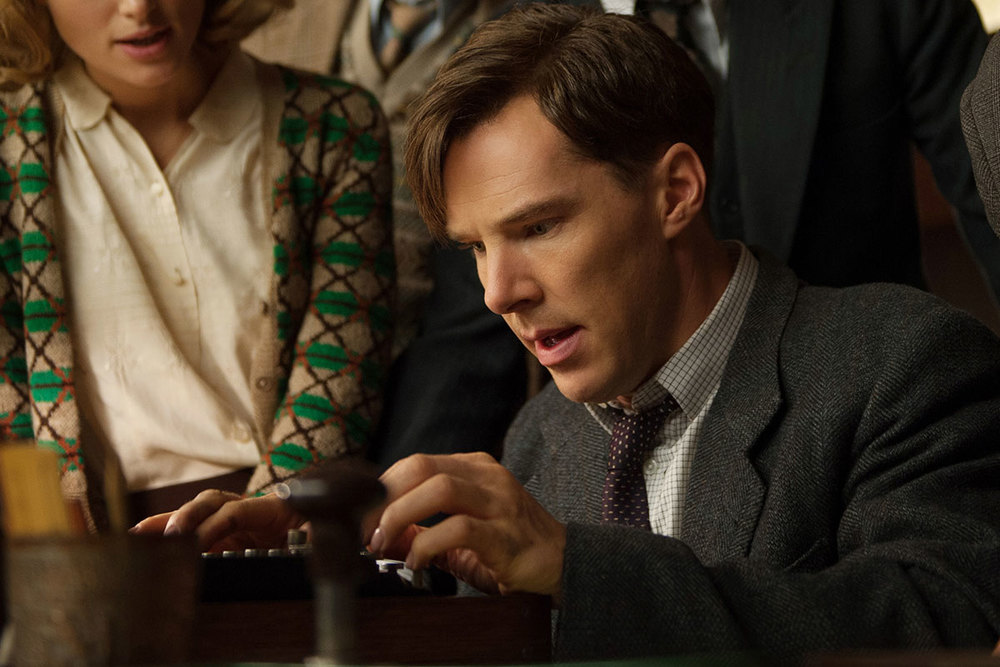 Benedict Cumberbatch as Alan Turing in, The Imitation Game