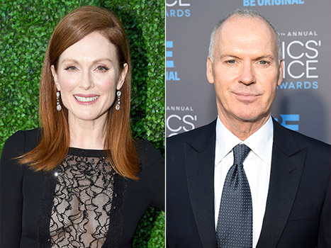 Julianne Moore (Best Actress) and Michael Keaton (Birdman)