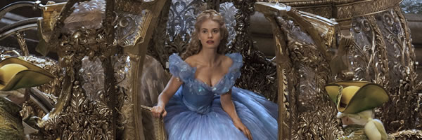 Lily James in, Cinderella