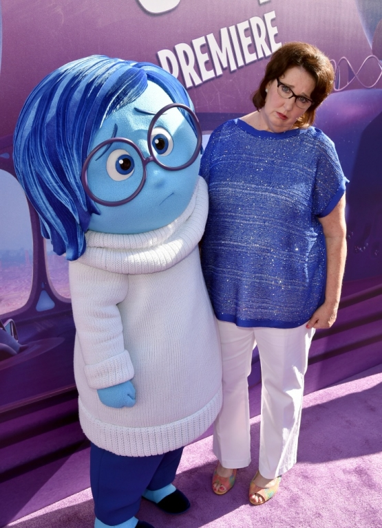 "Phyllis Smith as ""Sadness"" in Pixar's, Inside Out"