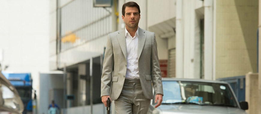 Zachary Quinto as John Smith in, Hitman: Agent 47