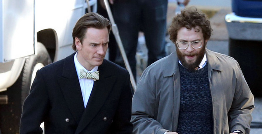 Michael Fassbender and Seth Rogen