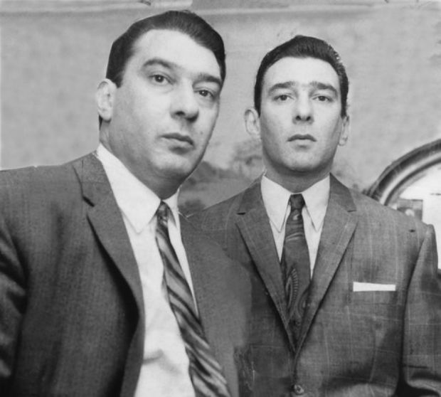 The real-life twin brothers, Ronnie and Reggie Kray