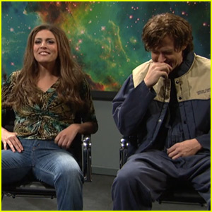 Gosling on Saturday Night Live trying to hold back his laughter