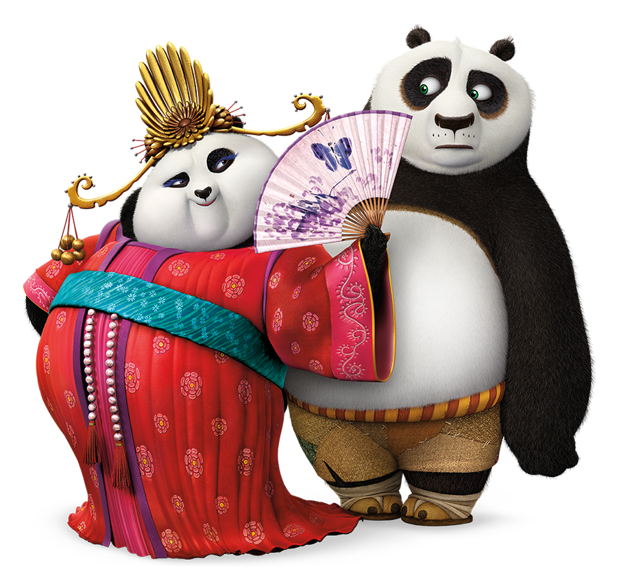 Mei Mei (Kate Hudson) and Po (Jack Black)