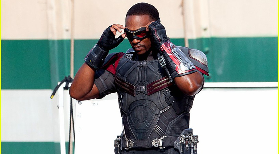 "Anthony Mackie as ""Falcon"" in Captain America: Civil War"