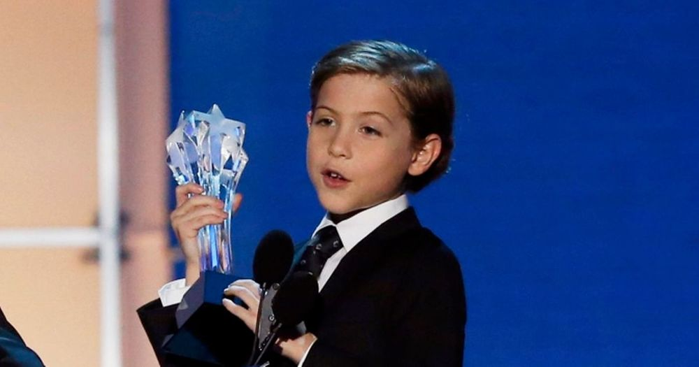 Jacob Tremblay accepting his Critic's Choice Award January 2016