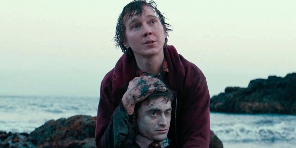 "Paul Dano and Daniel Radcliffe in, ""Swiss Army Man"""