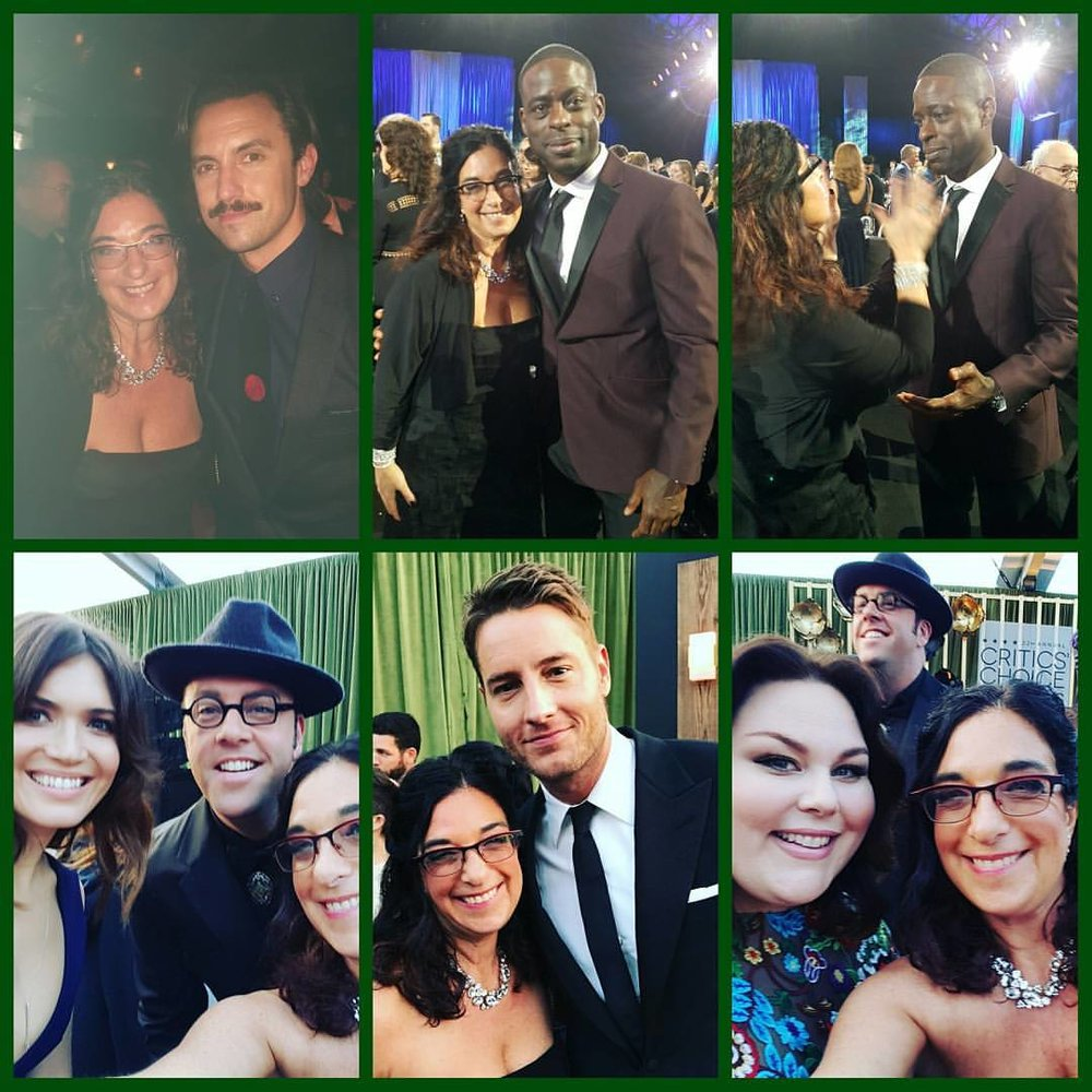the cast of the hit show, this is us - milo ventimiglia, sterling k brown, mandy moore, chris sullivan, justin hartley and chrissy metz