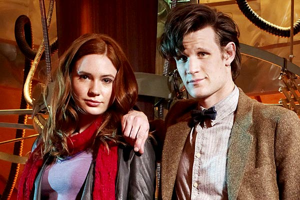 Karen Gillan and Matt Smith, Dr Who
