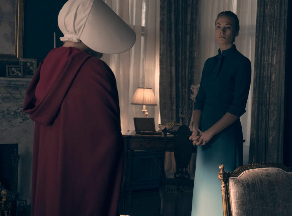 Yvonne Strahovski in, The Handmaid's Tale